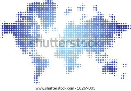 Halftone world map stock vector 18269005 shutterstock halftone world map gumiabroncs Images