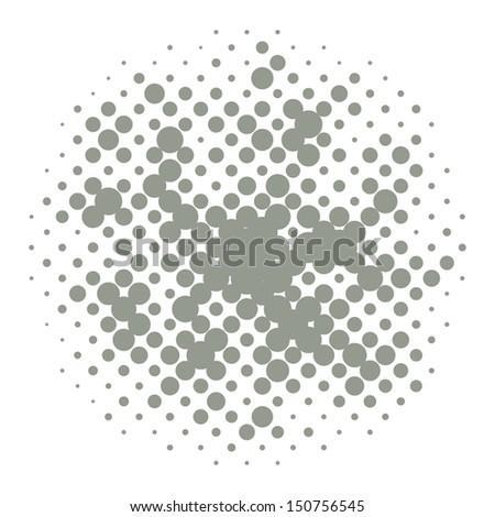 Halftones - stock vector