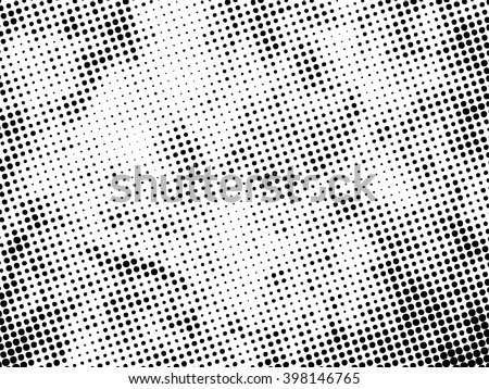 halftones background.Distress Dirty Damaged Spotted Circles Overlay Dots Texture . Grunge Effect . - stock vector