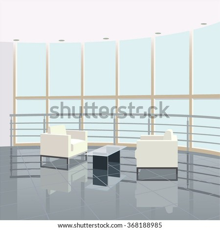 Conference Room Design Grey Overlooking City