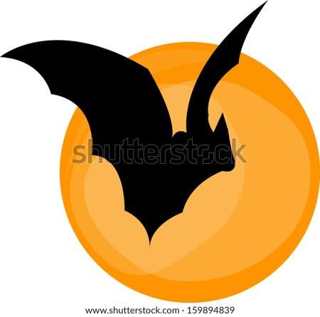 Hallaween one bat - stock vector