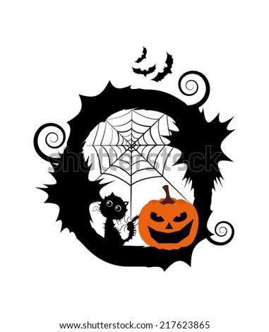 Halloween Alphabet Set Letters Pumpkin On Stock Vector 217623874 ...