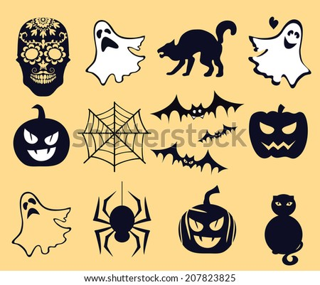 Halloween and life beyond, afterlife, muertos - stock vector