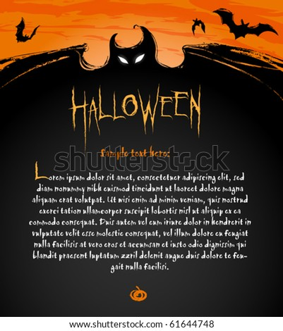 Halloween Backdrop Composition for banners, labels and invitation cards - stock vector
