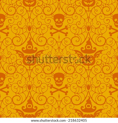 Halloween background.Autumn vector illustration - stock vector