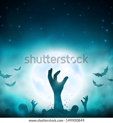 Halloween background. Eps 10 - stock vector