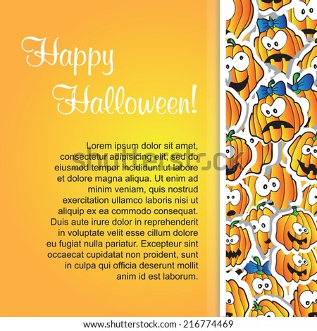 Halloween background for  card or design - vector illustration - stock vector