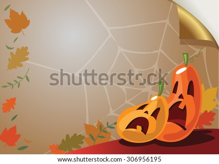 Halloween background for greeting card or Party Invitation - stock vector