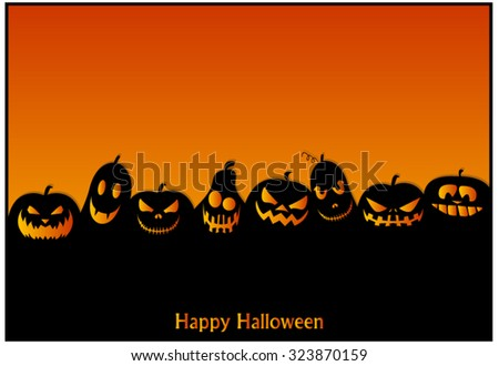 Halloween Background or card. Vector illustration.