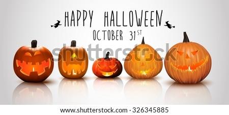 Halloween background Pumpkins . vector - stock vector