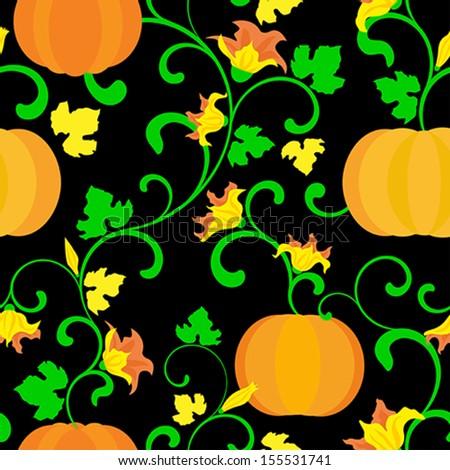 Halloween background. Seamless pattern - stock vector