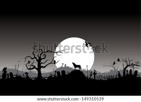 Halloween background, vector - stock vector