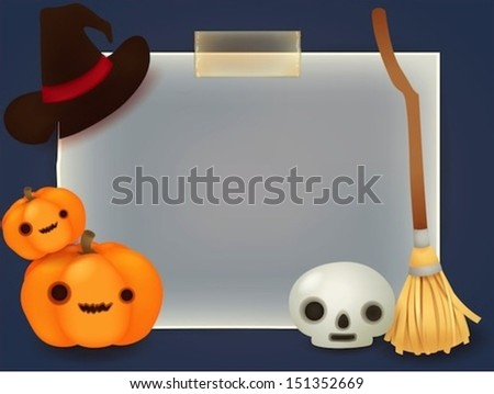 Halloween Background - Vector File EPS10 - stock vector