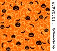 Halloween background. vector illustration - stock vector