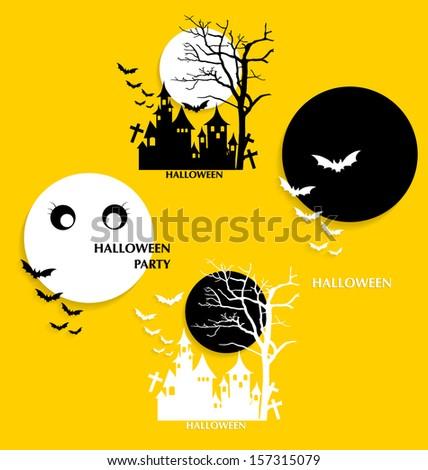 Halloween background. Vector illustration. - stock vector