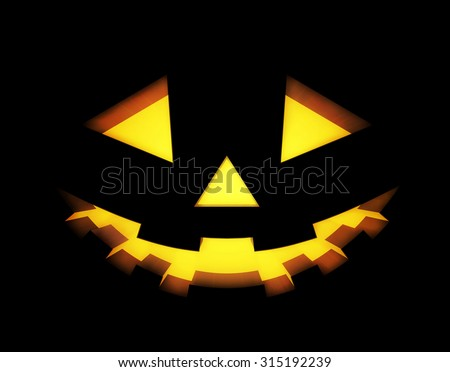 Halloween background with pumpkins lantern. Vector illustration - stock vector