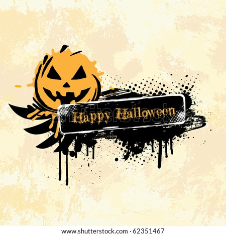 Halloween Banner - stock vector