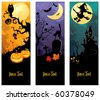 Halloween banners set - stock photo