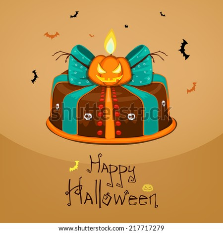 Halloween cake - stock vector