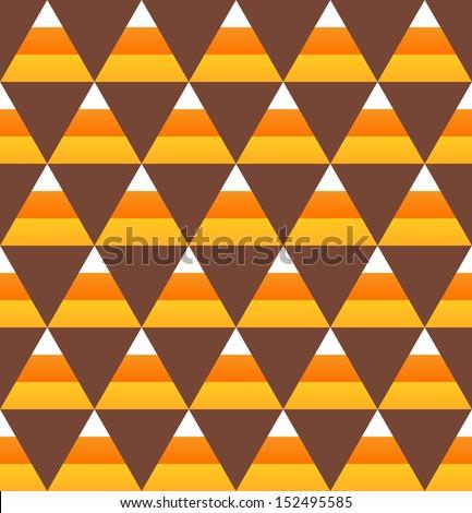 Halloween candy corn seamless pattern - stock vector