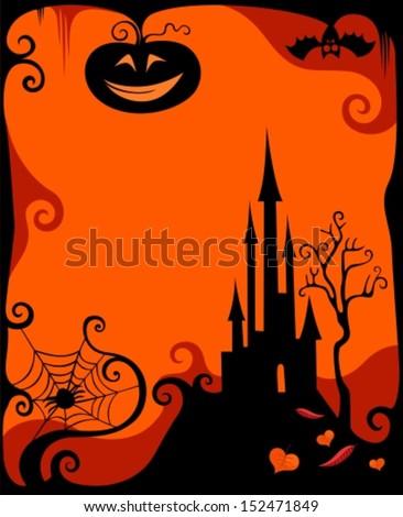 halloween card - stock vector