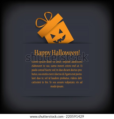 Halloween card design with presents. Eps10 vector illustration - stock vector