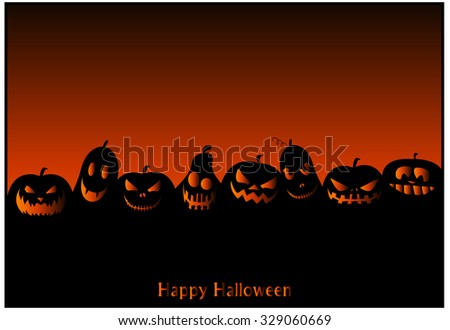 Halloween card or Background. Vector illustration.