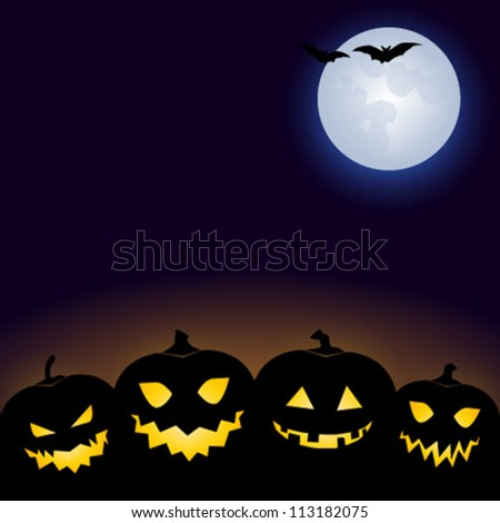 Halloween card / party invitation - stock vector