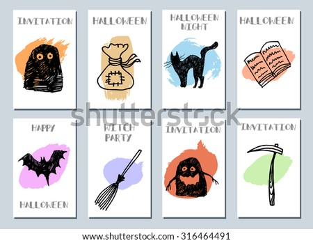 Halloween Cards. Made With Ink. Happy Halloween. Halloween Night. Witch  Party.