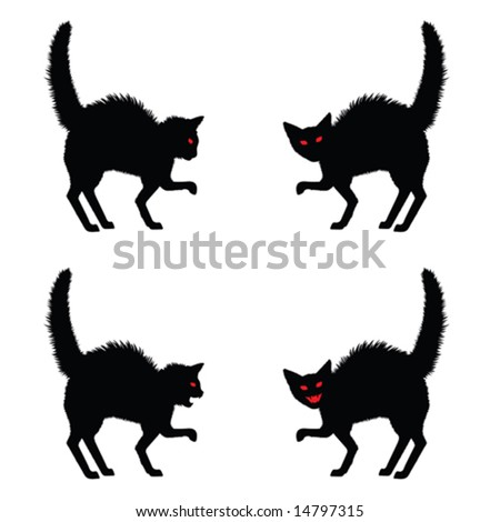Halloween Cat Stock Images, Royalty-Free Images & Vectors ...