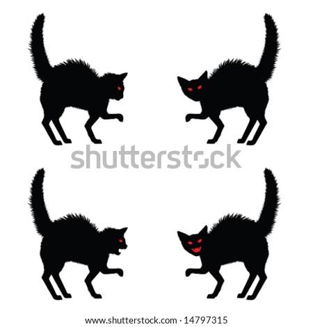 halloween cat silhouette - Black Cat Silhouette Halloween