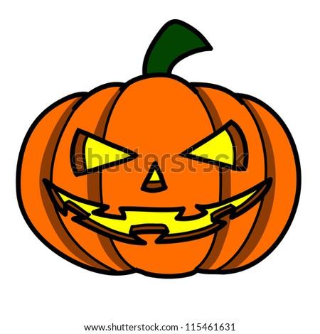 Halloween character  cartoon. - stock vector