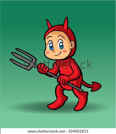 Halloween character devil - stock vector