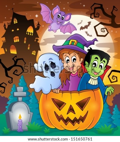 Halloween character image 5 - eps10 vector illustration. - stock vector