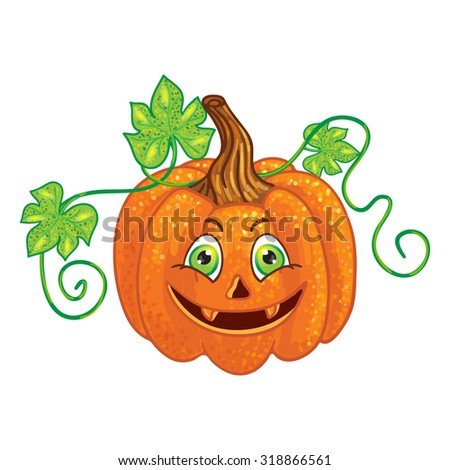 Halloween character pumpkin - stock vector