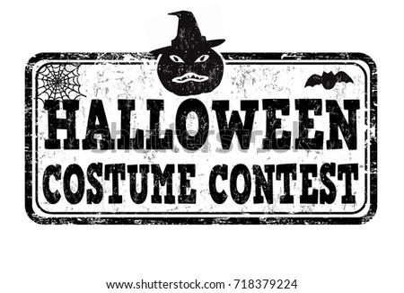 Halloween Costume Contest Grunge Rubber Stamp Stock Vector ...