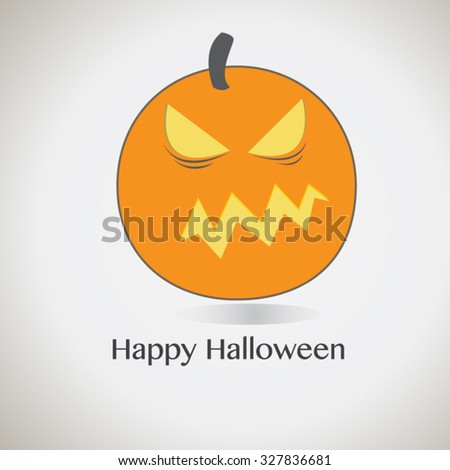 Halloween cute pumpkin