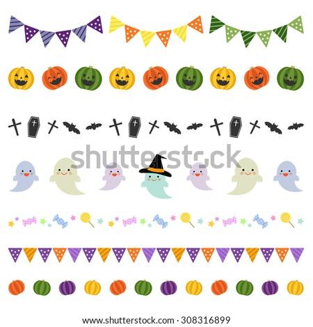 Halloween decorative borders / vector eps10 - stock vector