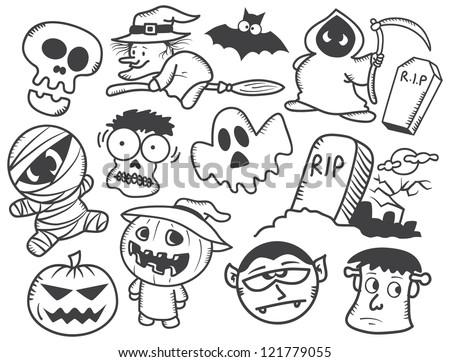 Halloween doodle - stock vector