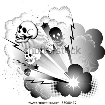 Halloween explosion - stock vector
