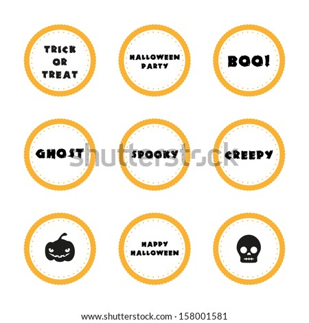 Halloween expressions - stock vector
