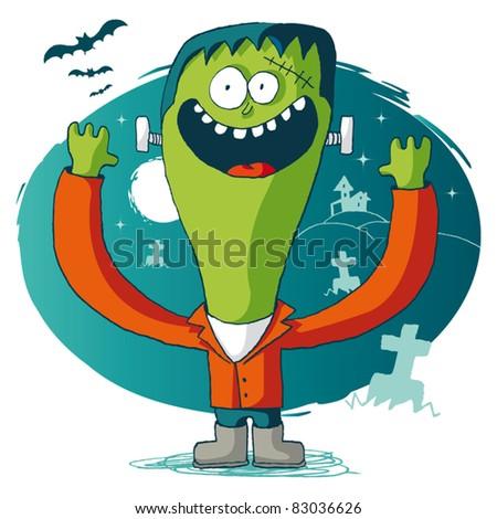 Halloween -  frankenstein - stock vector