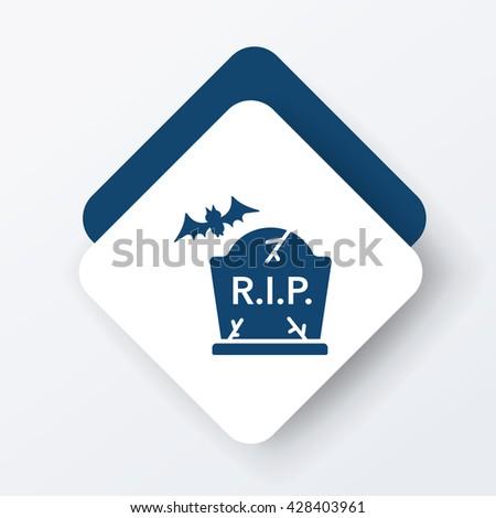 halloween grave icon - stock vector