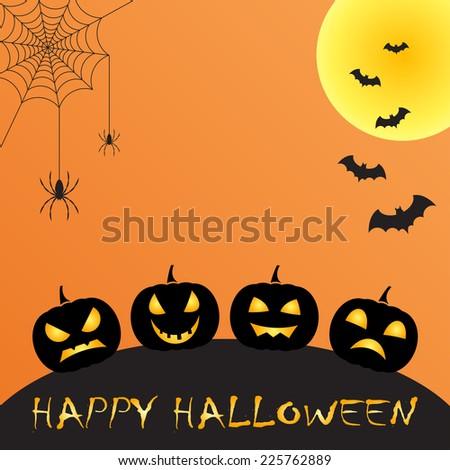halloween greeting   - stock vector