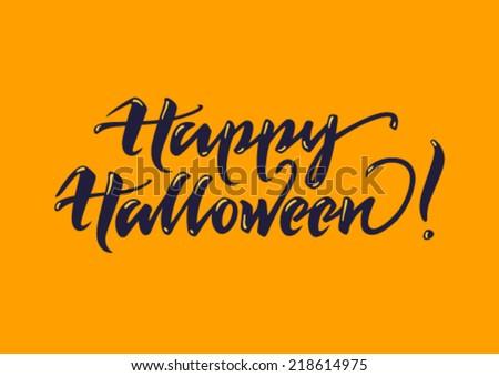 Halloween greeting card - stock vector