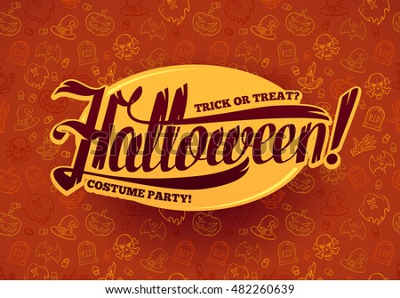 Halloween greeting message design background. Vector illustration