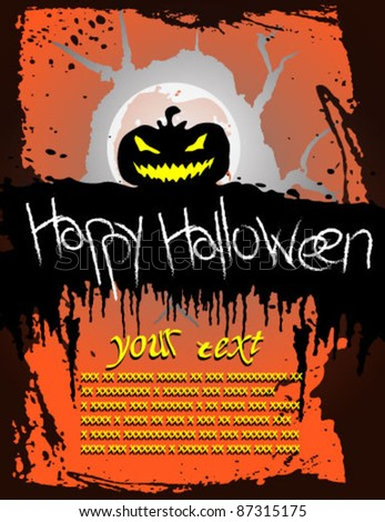 halloween holiday party poster vector