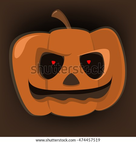 Halloween , holiday pumpkin, scary character , cartoon