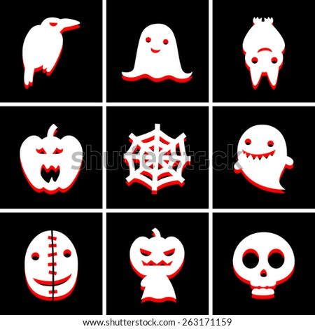 halloween icon great for any use. Vector EPS10. - stock vector