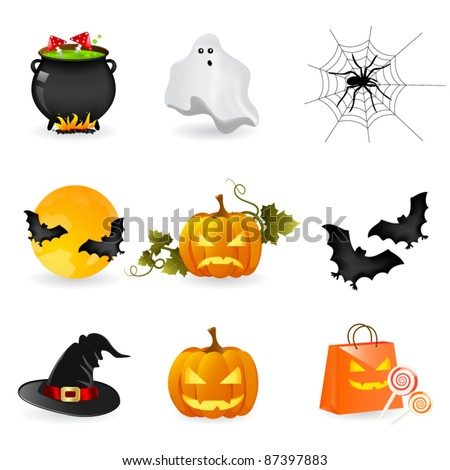 Halloween icons - stock vector
